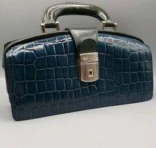 Bosca Ladies Leather Mini Doctor Bag Brief Handbag Purse w Key Lightly Used