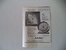 advertising Pubblicità 1957 CYMA SVEGLIA AMIC