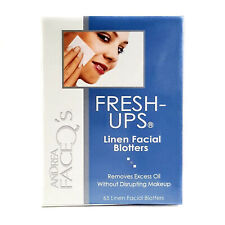 Andrea Face Q's Fresh-Ups 65 Linen Facial Blotters. Removes Excess Oil without D