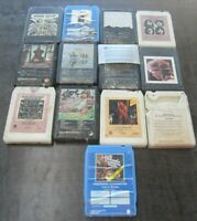 Lot of 13 8-track tapes 8 tracks Bob Dylan AC/DC Thin Lizzy CCR Alice Cooper BTO