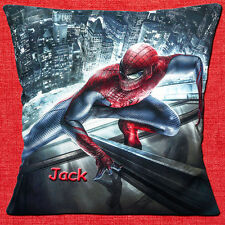 "PERSONALISED SPIDERMAN ACTION COMIC HERO - ADD NAME - 16"" Pillow Cushion Cover"