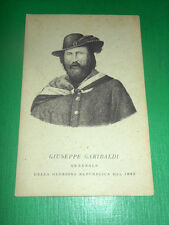 Cartolina Ritratto del Generale Giuseppe Garibaldi ( 1807 - 1882 ) #1