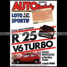 AUTO HEBDO N°467 TURBO RENAULT 25 V6 FIAT UNO IE SAAB 9000 1000 KM MUGELLO 1985