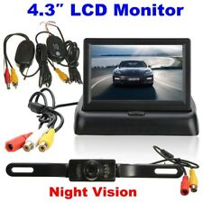 "Car Backup Camera Rear View System Night Vision W/ Wireless 4.3"" TFT LCD Monitor"