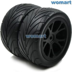 2pcs 1/10 Buggy Tires arrows Rear Tyres & 100% Nylon Wheels For 1:10 Buggy Car