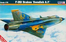 SAAB J-35 J DRAKEN (ILMAVOIMAT/FINNISH & SWEDISH AF MKGS)#D88 1/72 MISTERCRAFT