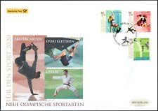 BRD 2020: Neue olympische Sportarten! Post-Sport-Groß-FDC Nr. 3542 - 3544! 20-07