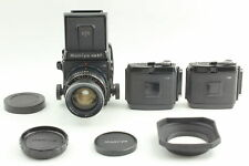 [Exc+4] Mamiya RB67 Pro S + Sekor 65mm f/4.5 Film Back x2 Lens Hood From JAPAN