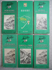 6 guides Michelin années 60 plan carte vintage french map 60s auto rétro garage