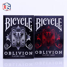 Oblivion 2 Deck Set Red & White Bicycle Playing Cards Poker Size USPCC Custom
