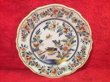 Antique French Faience Hand Painted Wall Plate c.1800's, ff665  GIFT QUALITY!