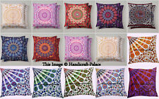 Indian Boho Mandala Scatter Cushion Covers Blue Gold Pink Purple Red Green White