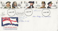 Royal Mail FDC Full Set of 5 Maritime Heritage Signed 6 all naval
