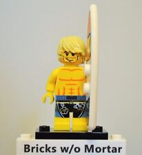 New Genuine LEGO Surfer Minifig with Surfboard Series 2 8684