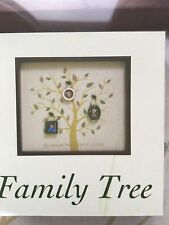 Family Tree Picture Frame Wall Display With 3 Hanging Picture Photo Frames - NIB