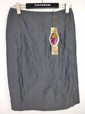 Riani jupe 36 brun gris discret rayures brillance poches NP 189 2 nouvelles