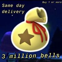 Animal Crossing New Horizons Bells 🔔 3 Million 💰 Same Day Delivery 🚚