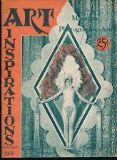 ART INSPIRATIONS Vol. 1 No. 2 1926 Spicy Nude Figure Art Photos Magazine VF vv