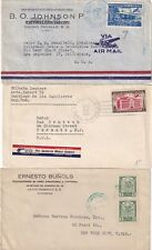 More details for h7 republic dominica 11 diff stamped covers / front 1937? - 1960 mainly uk / usa