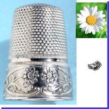 dé à coudre ancien ARGENT couture * Thimble Fingerhut Silver Antique Nécessaire
