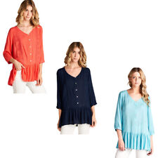 JODIFL Womens Boho Embroidered Bohemian Peasant Long Sleeve Top Blouse S M L