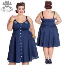 9bf81f871917 Hell Bunny Sela Rockabilly Pinup Swing Retro Vintage Dress XL-4XL