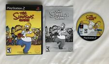 ☆ The Simpsons Game (Sony PlayStation 2 2007) PS2 COMPLETE in Box BLACK LABEL ☆