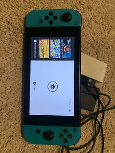 Nintendo Switch Console - Black 32GB USED with Blue Joy Cons