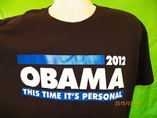 """President BARACK OBAMA 2012 T-Shirt LARGE """"This Time It's Personal"""" Campaign"""