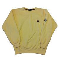 Vintage 90s Polo Ralph Lauren Golf Sweater Mens Medium Crest Yellow Pullover OG