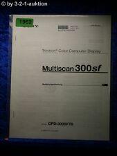 Sony Bedienungsanleitung CPD 300SFT5 Multiscan 300sf Computer Display (#1962)