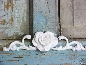 SHABBY & CHIC ROSE SCROLL FURNITURE APPLIQUE  FLEXIBLE