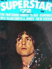 SUPERSTAR MAGAZINE  NO 11 AUG 1972 - T. REX - OSMONDS - DAVID CASSIDY