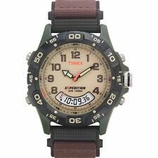 Timex T45181, Men's Expedition Combo Brown Watch, Indiglo, T451819J