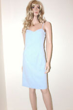 IMAGES Blue Summer Evening Party Dress Wedding Size 10 Christening Party