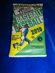 2019 Topps Heritage Baseball Hobby Pack - Tatis Jr, Acuna Jr, Guererro Jr RC Yr
