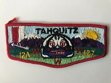 Tahquitz Lodge 127 YS1 OA flap patch Order of the Arrow Boy Scouts mint