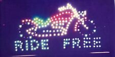 Bright Animated Motion Running Led Ride Free Sign For Shop