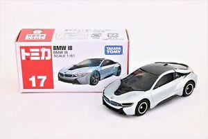 Takara Tomy TOMICA #17 BMW i8 Scale 1/61 Mini Diecast Toy Car Japan