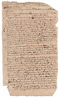 c1500 damaged manuscript document handwritten