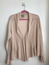 POETRY Women's Beige Linen / Modal Rayon 3/4 Sleeve Cardigan UK 24