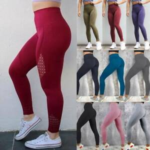 Womens Seamless Yoga Pants Sexy Push Up Leggings Sports Fitness Gym Trousers