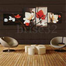 Huge Modern Home Decor Canvas Print Painting Wall Art Abstract Flower 4Pcs Lot