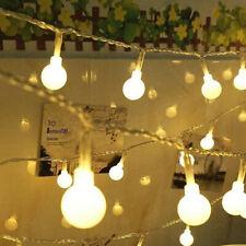 Lâmpada Globo 100LED 10M Bola De Fada cordão de luzes da Rede Elétrica Plug-in Jardim Natal Outdoor