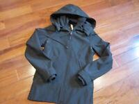 LULULEMON sidewalk rain JACKET hoodie full zip water resistant SIZE 4 IN BLACK..