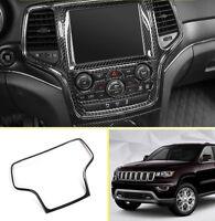 Carbon Fiber Dashboard Audio Speaker Cover Trim For Jeep Grand Cherokee 2014-19