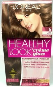 L'Oreal Healthy Look Creme Gloss 6 Light Brown Chocolate Praline Hair Color
