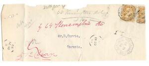 1892 Canada - Gerrard St., Toronto, Ont. CDS Cancels - Cover Front - Toronto DLO