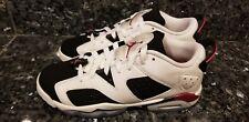 Nike Air Jordan 6 VI Retro Low White Sport Fuchsia Youth SZ 6.5Y ( 768878-107 )