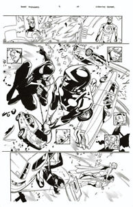 MAHMUD ASRAR ALL NEW ALL DIFFERENT AVENGERS #4 p. 11 ORIGINAL ART
